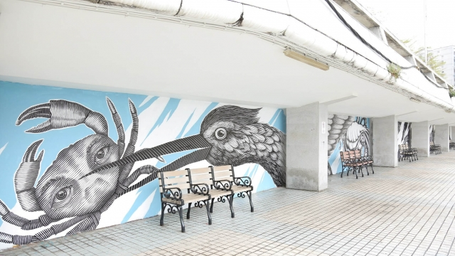 澳烏拉圭藝術家合作 雅文湖畔塗鴉換新裝