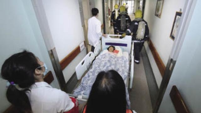 山頂醫院火警演習 提升應變力減傷亡