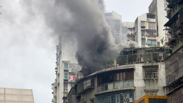 巴波沙天台屋大火消防救熄無人受傷