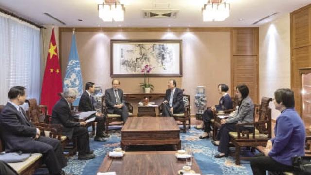 譚俊榮日內瓦會晤國家衛生健康委員會馬曉偉主任