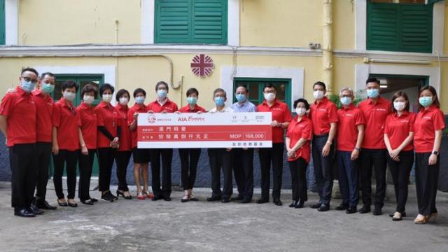 AIA捐款明愛支援抗疫
