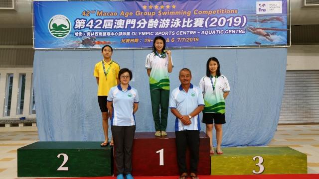 澳門分齡泳賽刷新五項紀錄
