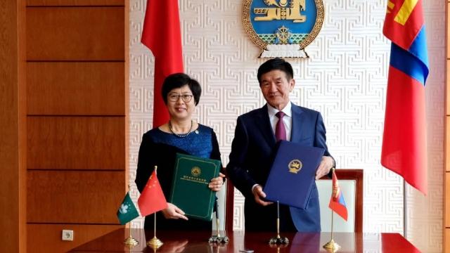 陳海帆訪蒙古國 簽刑事司法合作