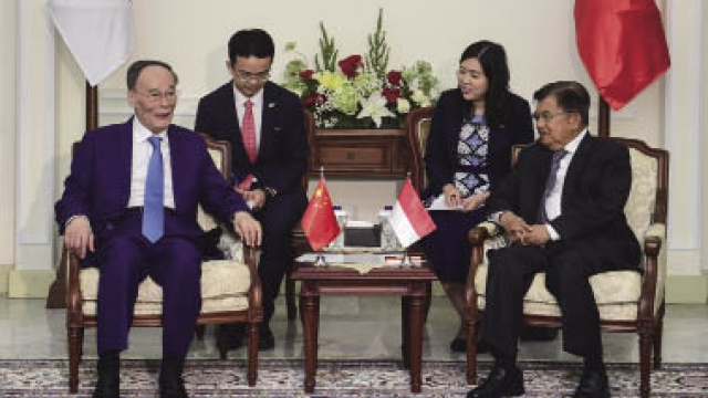 王岐山訪問印度尼西亞
