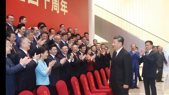習近平出席深圳經濟特區建立40週年慶祝大會上發表重要講話