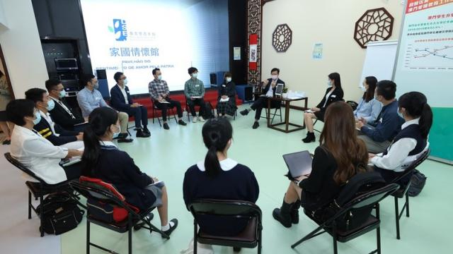 老柏生與青年交流_探討教育政策規劃