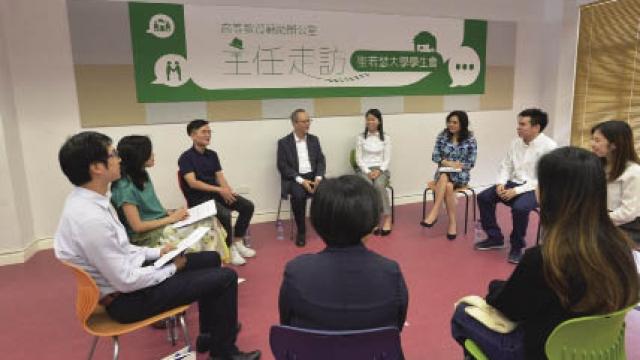 蘇朝暉訪聖大學生會 寄語搭橋樑促進交流
