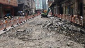 沙梨頭街市路裂下陷_渠道老化有關需重鋪