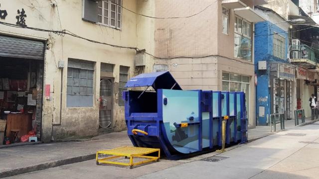 壓縮式垃圾桶增容量 冀改善庇山耶街衛生