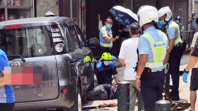 六旬翁被撞捲車底壓雙腳腦脊液流出