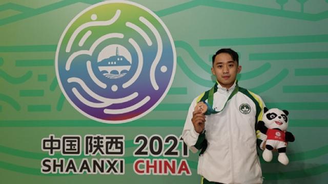 本澳運動員首次奪全運會獎郭建恆空手道個人型獲銅牌